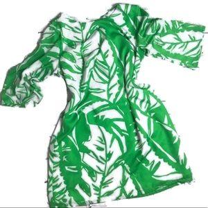 Lilly Pulitzer Palm Leaf Date Sundress Beach XS 2